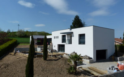 Extension rénovation d'une maison traditionnelle (Isolation Thermique par l'Extérieur) Sud-Est Rhône 69