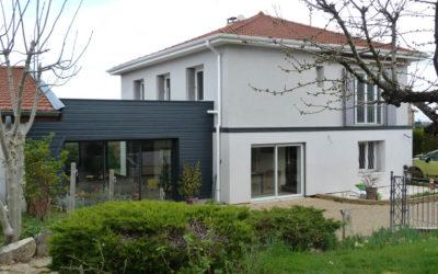 Extension à ossature bois & restructuration Lissieu Rhône 69380