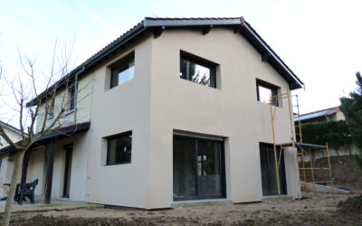 Extension à ossature bois d'une maison traditionnelle Civrieux d'Azergues 69380