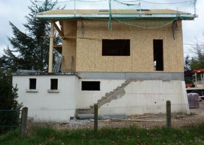 Construction d'une maison ossature bois La Tour de Salvagny - Rhône 69890