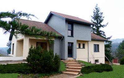 Surélévation en ossature bois et rénovation d'une maison traditionnelle Châtillon d'Azergues 69380