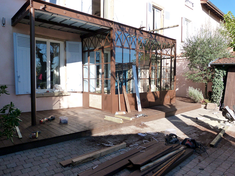 Construction D Une Veranda Metallique A Lyon Rhone 69 Cjmo